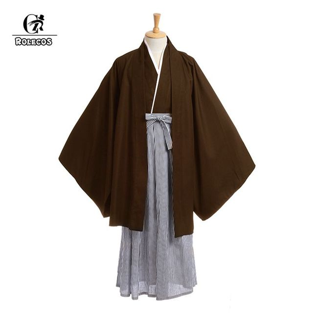 ROLECOS Cosplay Costumes Japanese Menu0027s Traditional Loosen Kimonos With Easy OBI Belt Yukata Robes Costumes Full  sc 1 st  AliExpress.com & ROLECOS Cosplay Costumes Japanese Menu0027s Traditional Loosen Kimonos ...
