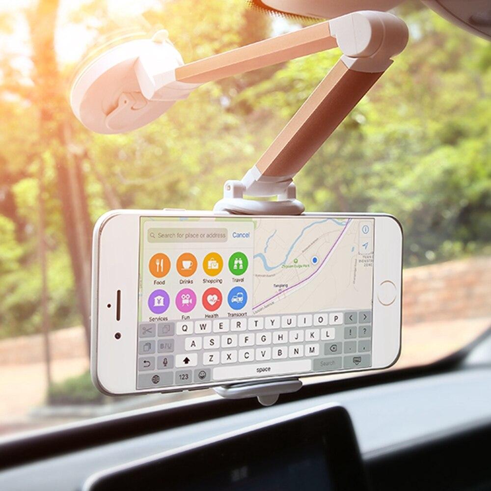 Kisscase Универсальный Регулируемый автомобильный держатель телефона для Samsung Galaxy <font><b>S8</b></font> S7 S6 для IPhone X 7 6 Plus простой Адсорбирующихся подставка держат&#8230;