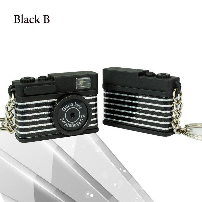 Светодиодная камера мигающая игрушка для детей цифровой брелок с камерой светящийся звук вспышка светильник Подвеска сумка Аксессуары Детская игрушка - Цвет: Black B