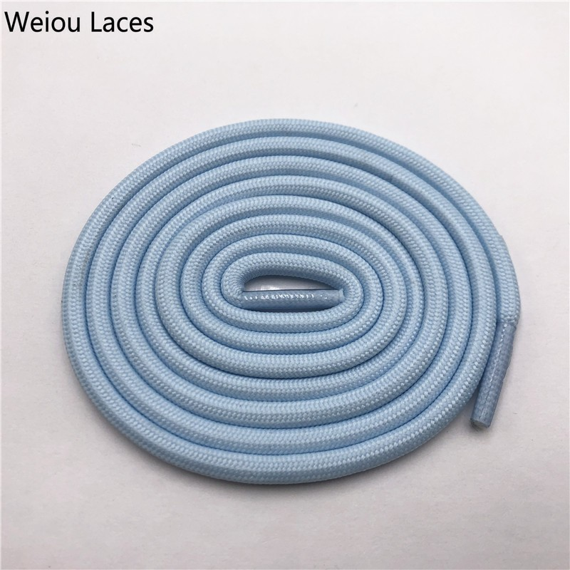 Weiou 0,5 см круглые спортивные шнурки из полиэстера толстые походные шнурки одежда веревка для скалолазания шнурки для ботинок Детские мужские - Цвет: 2710Light blue