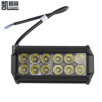 10pcs 36W 12x 3W 3600LM IP65 Car 12 24V LED Light Bar LED Work Light Flood