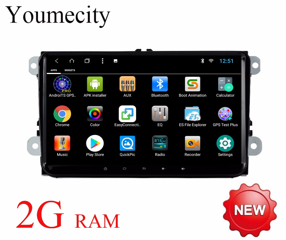Android 8.1 Car DVD Video Player Radio Gps Stereo for Skoda Octavia a5 a7 Rapid Yeti Fabia superb 2007-2017 year 2G RAM green