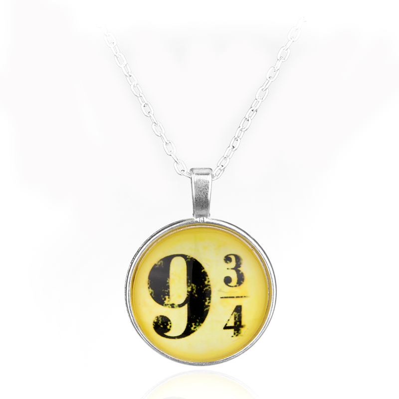 HANCHANG Hot Movie Harry Magic 934 Pendant Jewelry Fashion Glass Cabochon Necklace For Poter Women Men Christmas Cosplay Gifts