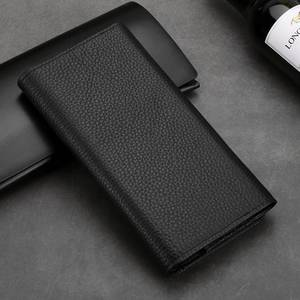 Image 3 - Genuine Leather Pouch For Iphone 11 12 Pro XS Max Case Universal Holster bag For Iphone XR 6 7 8 Plus SE 2020 Case Wallet Pocket