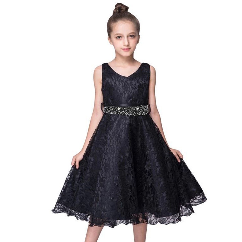 Fashion Kids Wedding Lace Dress for Girl Age 2 3 4 5 6 7 8 9 10 11 12 Years Elegant Ceremony Party and Wedding Long Evening Wear