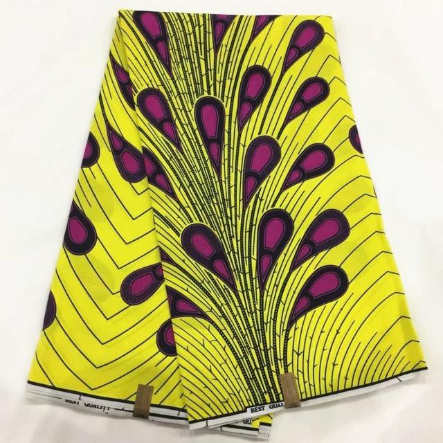 High Quality African Hollandais wax print 100% Cotton Fabric 6Yards
