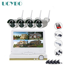 Wireless security ip camera nvr system 4ch 720P HD outdoor Infrared IR P2P Home wifi IP Camera kit video surveillance hdmi 1080P