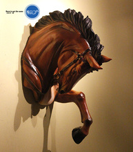 American country European resin horsehead hanging. War horse head wall act the role ofing to hang