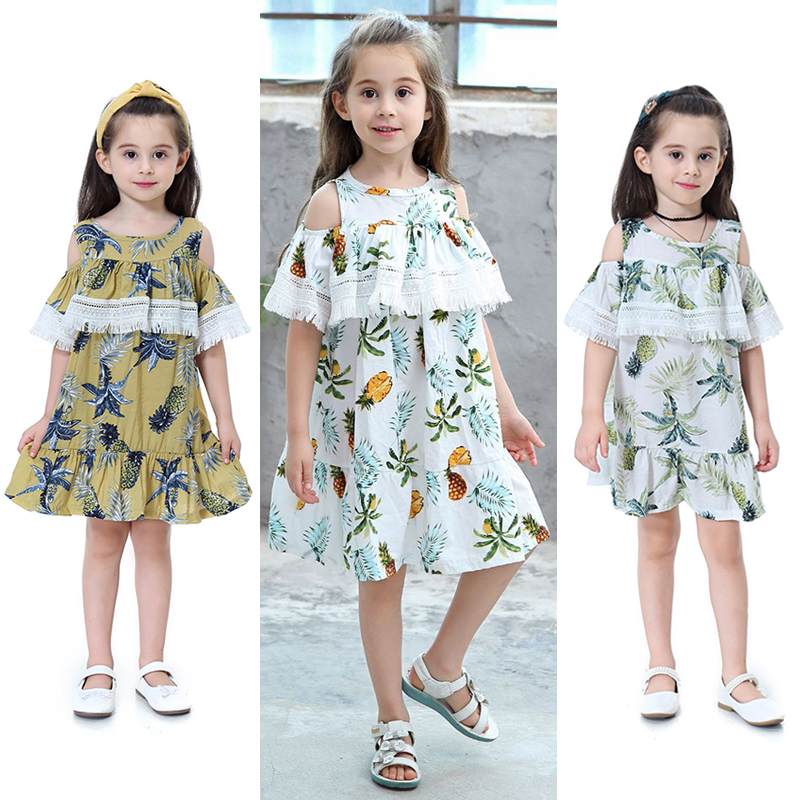Teenage Girls Dress Clothing Children Kids Lace Tassel Dresses Patchwork Spring Summer Girls Costume Kids Clothes for 1-12 Years