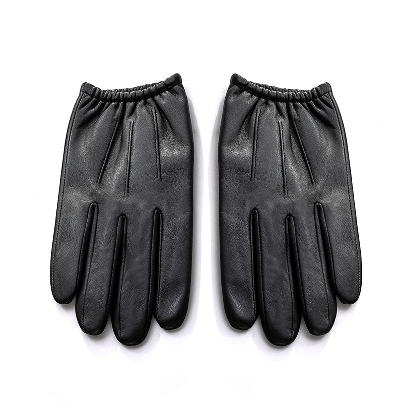 Image 4 - Genuine Leather Men Gloves Autumn Winter Plus Velvet Fashion Trend Elegant Male Leather Glove For Driving NM792B-in Men's Gloves from Apparel Accessories on AliExpress