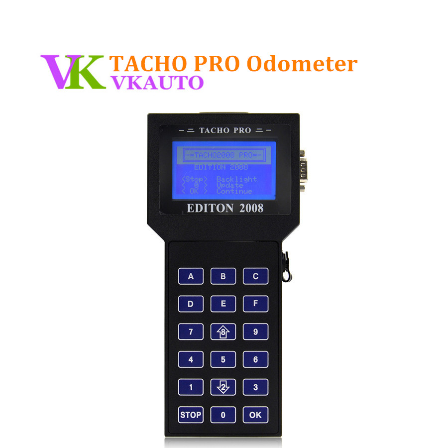 Tacho Pro Universal Odometer Programmer 2008 July Unlock Version High Quality Mileage Adjustment Tool DHL Fast Shipping