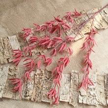 متفوقة الجودة 88 سنتيمتر زهرة اصطناعية 5 اللون لينة الأعشاب البحرية النباتات الاصطناعية المنزل الزفاف مأدبة عيد الميلاد الديكور