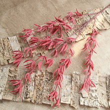 Üstün kalite 88 cm yapay çiçek 5 renk yumuşak yosun Yapay bitkiler ev düğün Ziyafet Noel dekorasyon