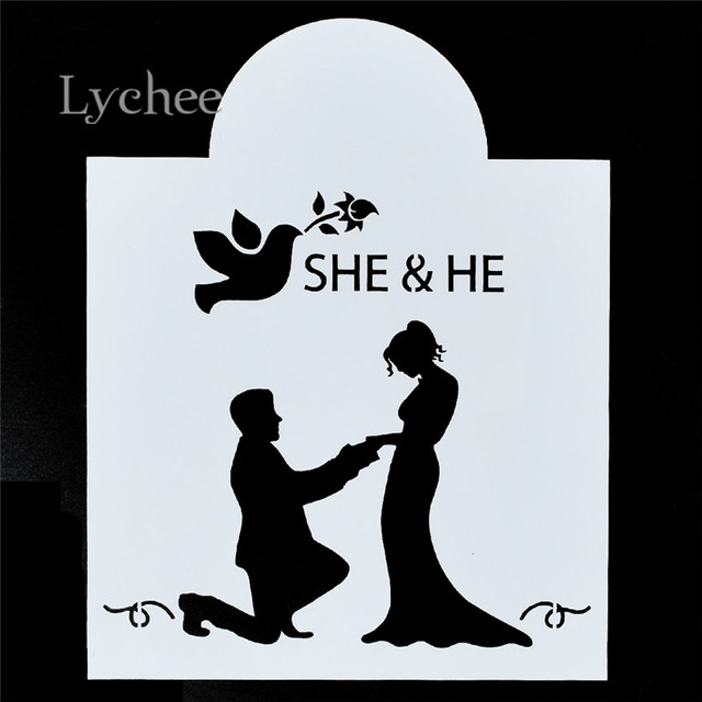 Lychee Wedding Butterfly Masking Spray Templates Drawing Stencils Laser Cut Template DIY Scrapbooking Tool