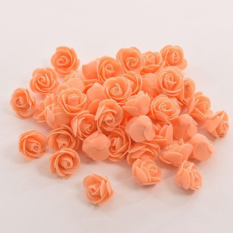 10 Цвета оптовая продажа 50 шт./пакет пенополиэтилен Роза ручной работы DIY свадебное украшение дома Многофункциональный искусственный цветок голову