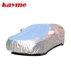 Kayme, cubiertas de aluminio impermeables para coche, súper protección solar, polvo, lluvia, cubierta universal para coche, suv, protección para vw toyota