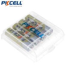 4 PCS PKCELL AAA סוללה 1.2 V 1000mAh Ni MH 3A 1.2 וולט AAA נטענת סוללה סוללות Bateria Baterias + 1 סוללה מקרה תיבה