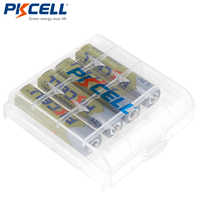 4 PCS PKCELL AAA Battery 1.2V 1000mAh Ni-MH 3A 1.2 Volt AAA Rechargeable Battery Batteries Bateria Baterias +1 Battery Case box
