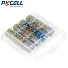 4 PCS PKCELL Batteria AAA 1.2 V 1000mAh Ni Mh 3A AAA da 1.2 Volt Batteria Ricaricabile Batterie Bateria Baterias + 1 Cassa di batteria box