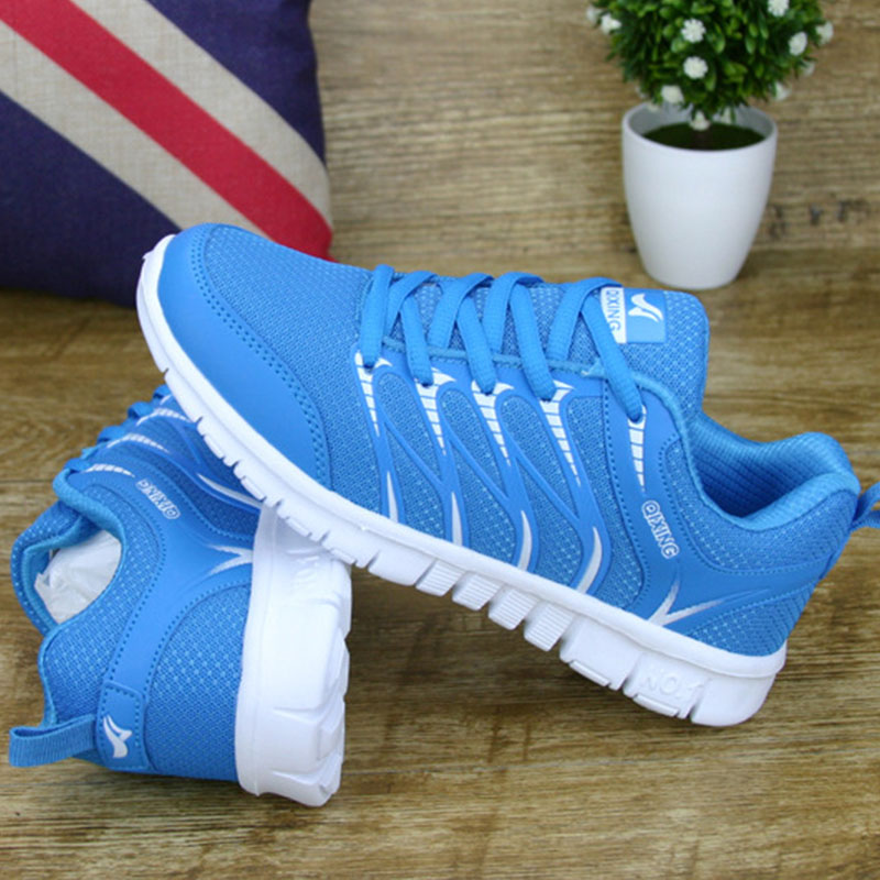 2018 New Summer Women Casual Shoes Lace up Woman Sneakers Breathable Flat Footwear Female Mesh Shoes Fashion DT926 pinsen fashion women shoes summer breathable lace up casual shoes big size 35 42 light comfort light weight air mesh women flats