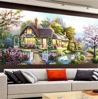 2017 Diy 5d Diamond Painting Garden Bungalow Landscapes Mosaic Cross Stitch Kits Diamonds Painting Embroidery Home