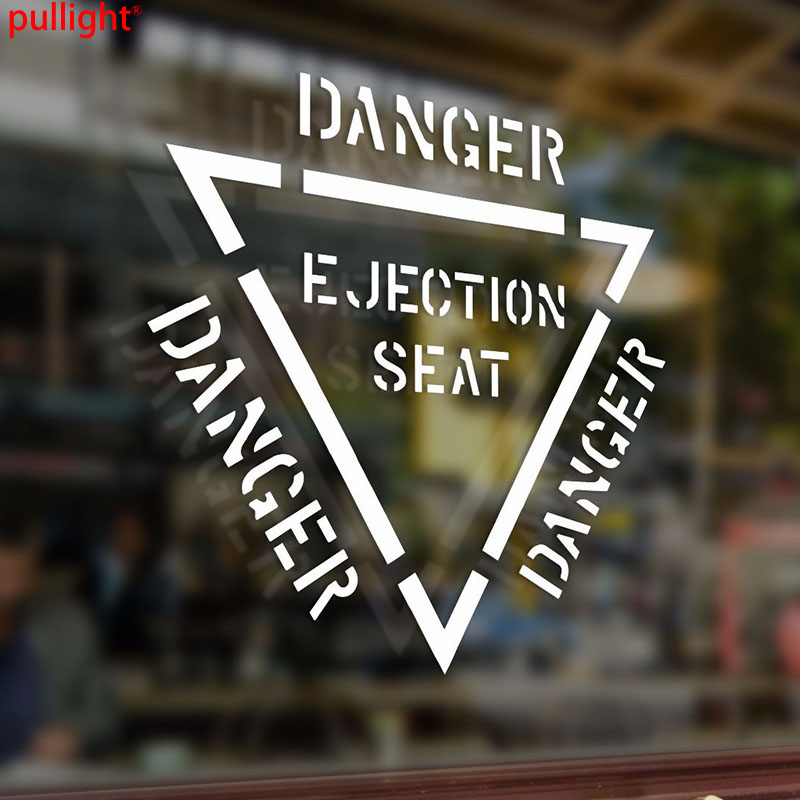 Danger Ejection Seat Warning Vinyl Stickers Decal Car Auto Laptop PC