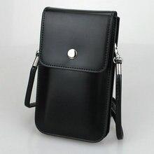 Кроссбоди мобильный телефон мешок, Высокое качество кожаный чехол ремень Loop зажим для iPhone 7/6 s/6 Plus Galaxy C7 pro