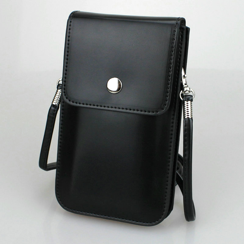 Crossbody Cell Phone Bag High Quality Leather Holster Sleeve Pouch Case Belt Loop Clip For IPhone
