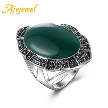 aneis de ouro size 7-9 new 18K White Gold Black/Red/Green Big rings for women fashion Jewelry