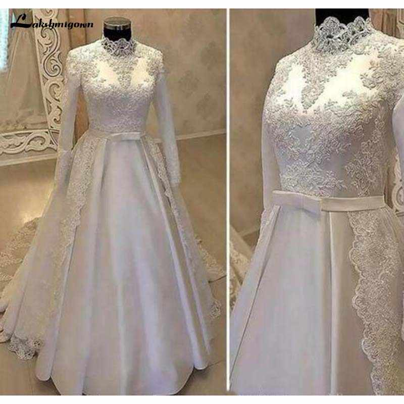 4b485be1b081a 2019 Well Designed Muslim Wedding Dresses Full Sleeves Beading ...