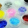 12 Colores de Uñas de Arte Tiras Glitter Rebanadas De Uñas de Acrílico UV Gel Decoración Herramientas