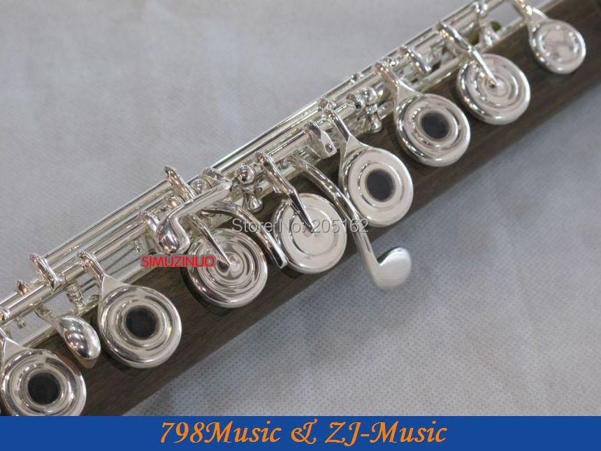 PROFESIONAL Hijau Cendana Flute-B-kaki-Open - Alat-alat musik - Foto 3