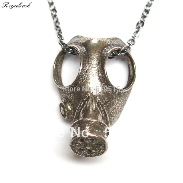 Regalrock Steampunk Anti Oddities Apocalypse Jewelry Gas Mask Pendant Necklace