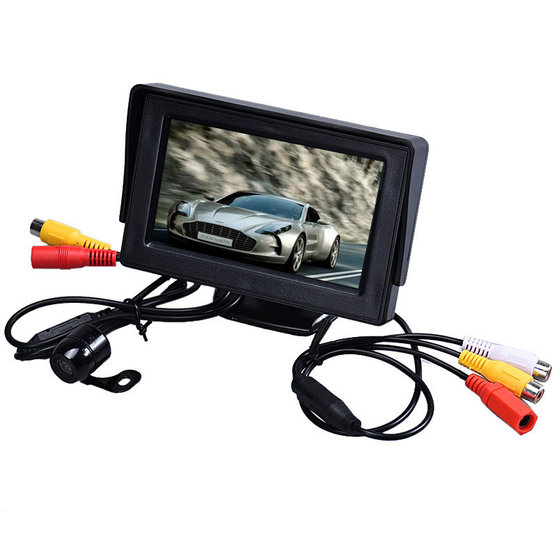 4.3 Inch TFT LCD Monitor+Car Reverse Rearview Back Up Camera Wireless Kit