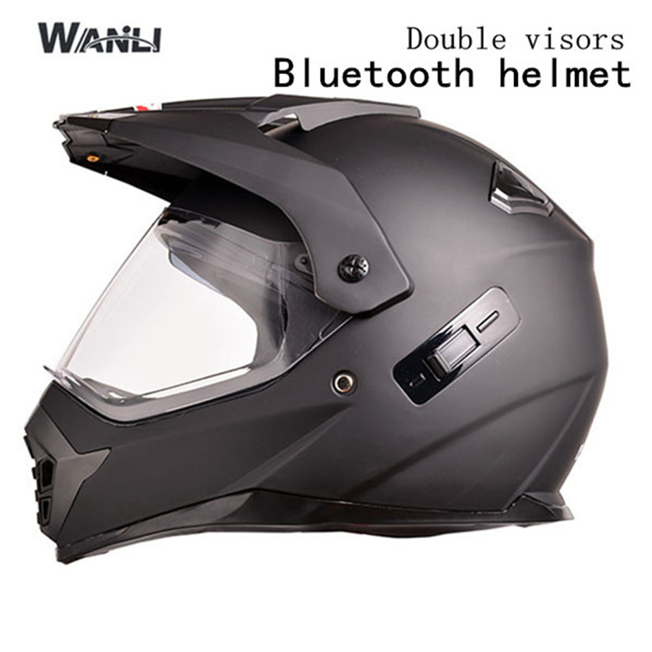 2017 Motorcycle Helmets Double Lenses motorcycle BLUETOOTH Helmet Men Full Face Motorbike Helmets Racing Riding Motocross Helmet