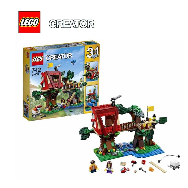 LEGO Creator Treehouse Adventures Architecture Building Blocks Model Kit Puzzle Educational Toys For Children LEGC31053 mini architecture series 4 cubicfun 3d educational puzzle paper