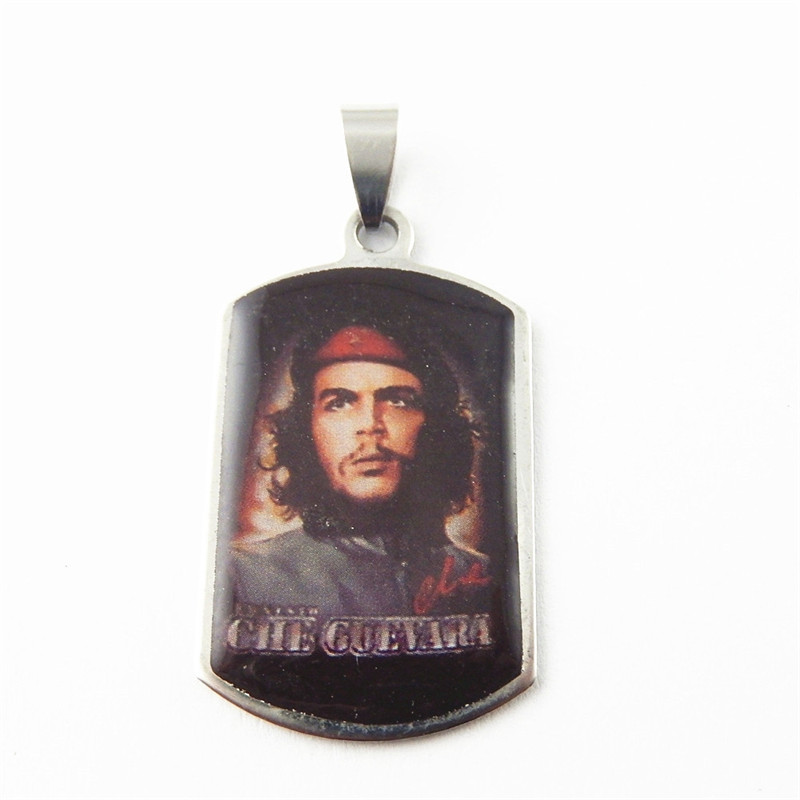 1pcs Unisex Imitation Silver CHE GUEVARA Jewelry Pendants Charms Finding Jewelry Key Chain Accessary 39*23*2mm