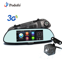 Podofo 7 Car GPS Navigation Android 5 0 Special 3G DVR Camera Bluetooth Dual Lens Rearview