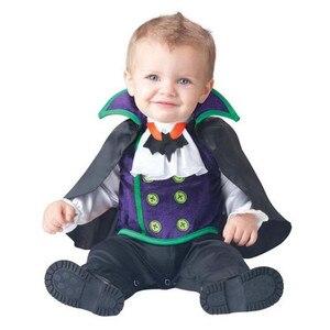 Image 5 - 新しい高品質の赤ちゃん女の子ハロウィンバットヴァンパイア衣装ロンパース子供服セット幼児共同スプレイピンク