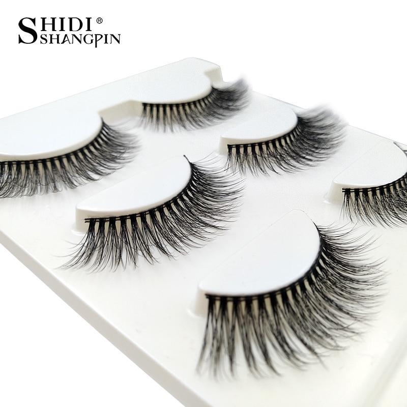 1 Box Natural Long 3D Mink Lashes Handmade False Eyelashes Wispy Mink - Makeup - Photo 4