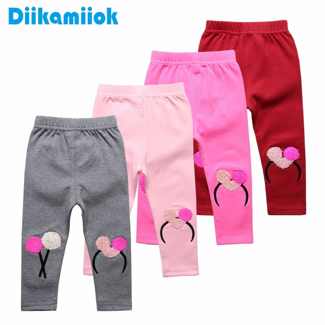 99f8610a657ce Sale Toddler Baby Girls Leggings Slim Trousers For Girl Pants Pink Red Gray  Color Kids Children