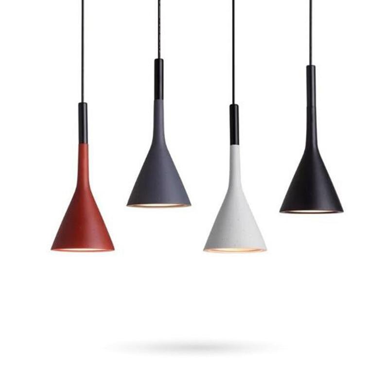 Modern Pendant Lights Kitchen Fixtures For Dining Room Restaurant Bars Home Bedroom White Black Red Lighting