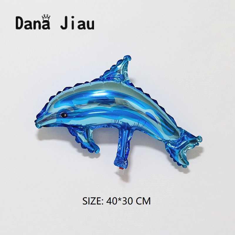 Синий Дельфин рыбы фольги Воздушные шары океана животных баллоны с гелием Русалка день рождения Свадебный декор воздушные шары события принадлежности для мячей