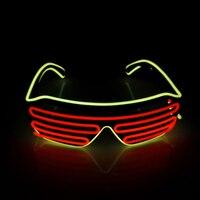 6 Colores Puede Elegir EL Cable Gafas Glowing Neon LED Light Up Shutter Gafas De Partido De Moda para Fiestas y Bar