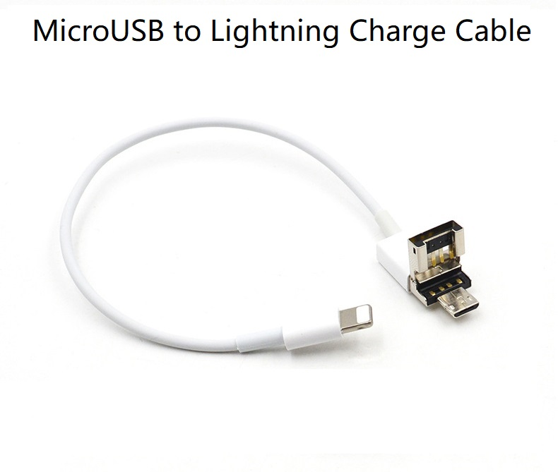 MicroUSB to Lightning Charge Cable for iPhone  Power Bank with MicroUSB Port to Charge iPhone  Android Phone Charge iPhone Phone Adapters & Converters     - title=