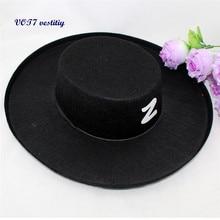 5e7e740526a VOT7 vestitiy 16 19 8CM Halloween Carnival Felt Child Cowboy Hat For Adults  Aug 23