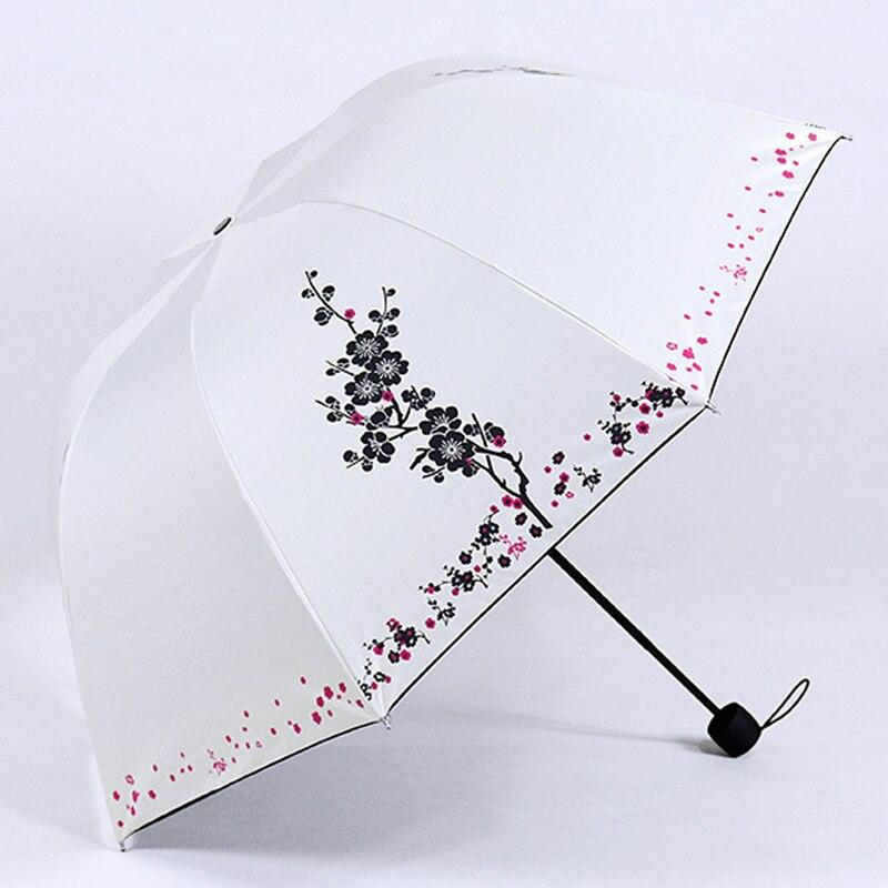 Новые Классические сливы цветок Для женщин зонтик Винтаж Китайский элегантный женский Зонты дождь гуарда-chuva Paraguas plegable us069
