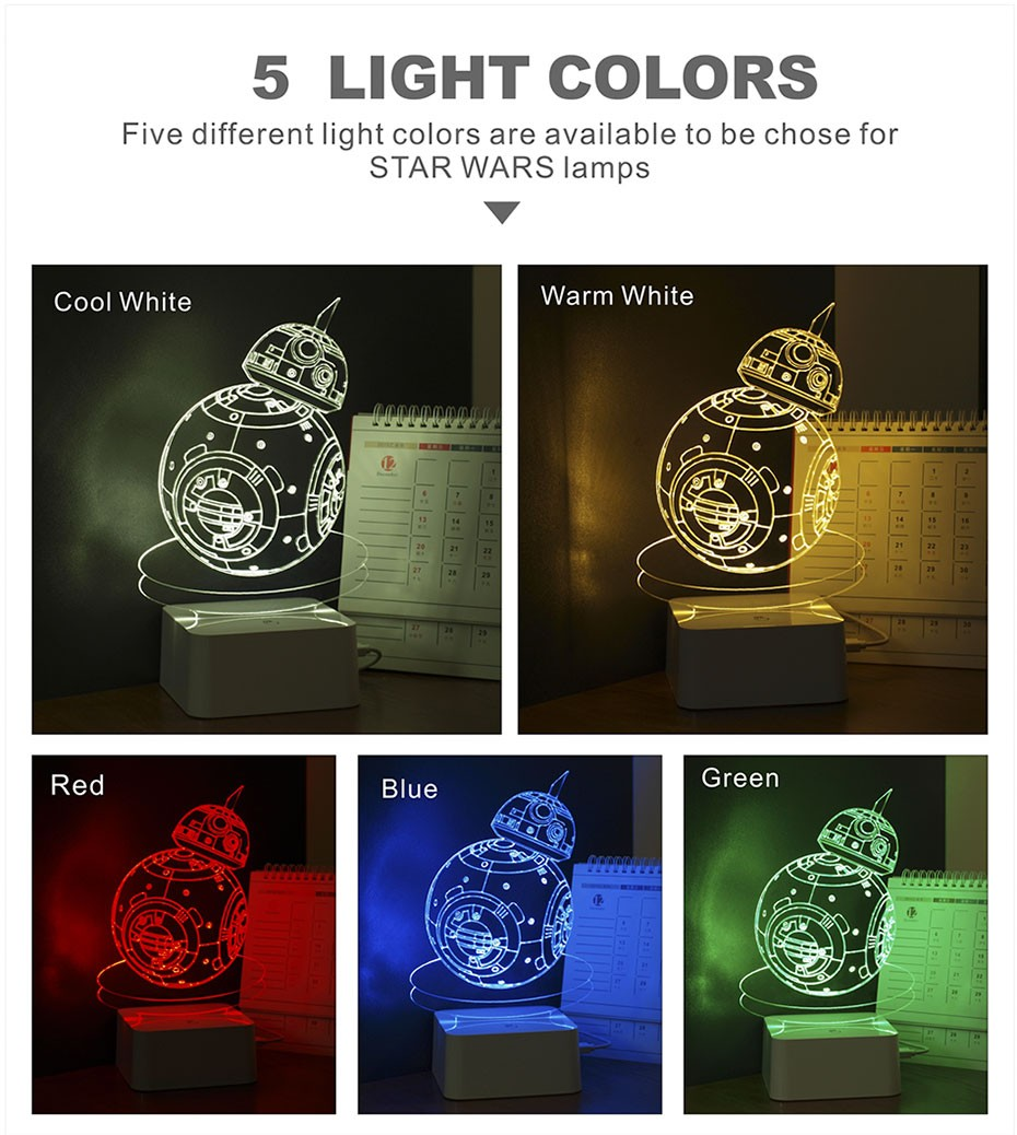 Star was Series Led 3D Night Light 5 light colors available  (16)