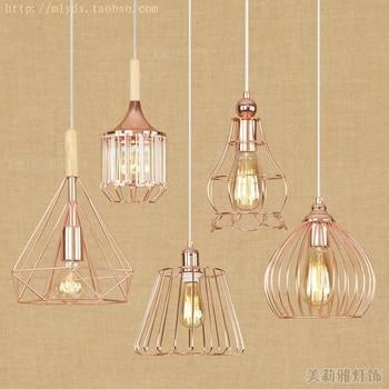 modern black cage pendant lights iron minimalist retro Scandinavian loft pyramid lamp metal Hanging Lamp E27 Indoor