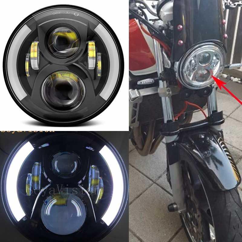 7 LED Motorcycle Headlight Assembly With DRL Turn Signal Lights For Honda CB400 CB500 CB1300 Hornet 250 600 900 VTEC VTR250 H4